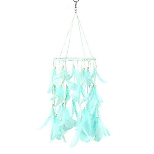 Fangfeen Hecho a Mano Wind Chimes Colgante Ideal del colector de la Pluma de Linterna Colgante Dreamcatcher Coche de la Boda Decoración para el Hogar