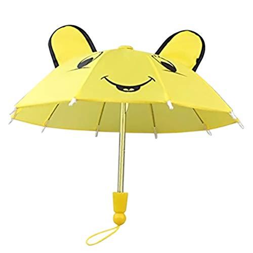 Yissma - Paraguas Infantil con diseño de Animales en 3D, Adecuado para niños y niñas Amarillo Amarillo