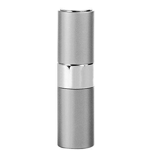 Preisvergleich Produktbild Minkoll Nachfüllbare Parfüm Sprühflaschen,  15ml Tragbare Mini leere Reise Zerstäuber Duft Metall Shell (Silber)