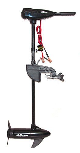 BISON 55ft/lb ELECTRIC OUTBOARD TROLLING MOTOR WITH FREE SPARE PROPELLER Test