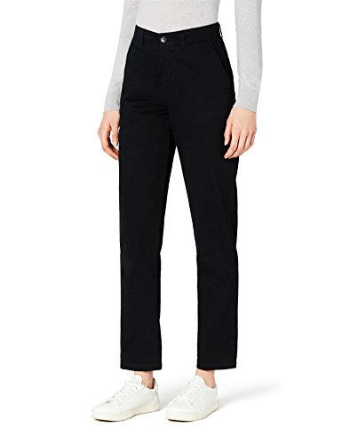 7be77b410 MERAKI Pantalones Chinos Estrechos Mujer, Negro, 36 (Talla del Fabricante:  X-Small)