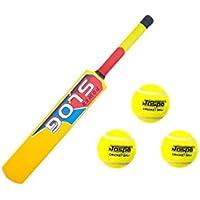 Jaspo Smasher - Combo de críquet (1 Bate y 3 Pelotas de críquet de Tenis)