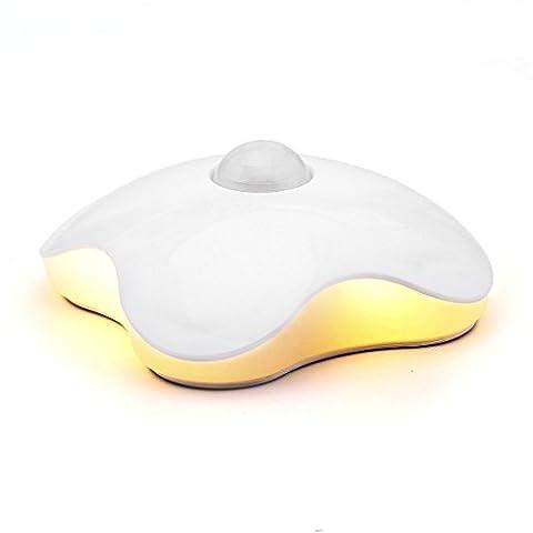 HF morning LED-Bewegungsmelder Wandleuchte Nachtbeleuchtung kabellos Batterie Betrieben Mini Nachtlicht Energiesparende LED Leuchtet ,Nachttischlampe In Der Garderobe, Kabinett (Gelb(Batterie))