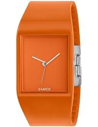Philippe Starck PH5033 - Reloj analógico de cuarzo unisex, correa de goma color naranja