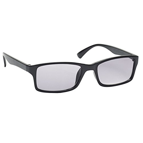 Die Lesebrille Unternehmen Schwarz Sonnen-Leser UV400 Designer Stil Herren Frauen S92-1 Dioptrien +1,00