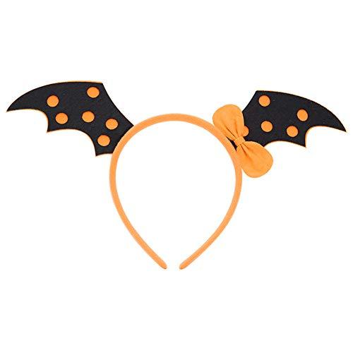 Gfjhgkyu Lustige und spannende Halloween Geschenk Ornamente Hexe/Kürbis / Bat/Skull Stirnband Haarband Halloween Kostüm Party Hair Requisiten Yellow Bat