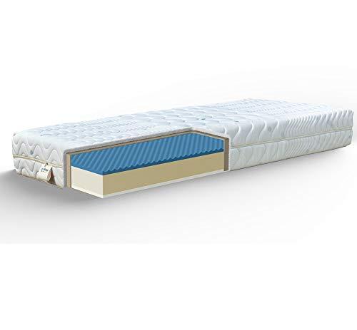 JOYSHOP s.r.l. CRONO Memory Season Matratze H21cm Abnehmbarer 4cm Memory + 4cm Latex, abnehmbar King Size 190 x 200 cm Coolmax -