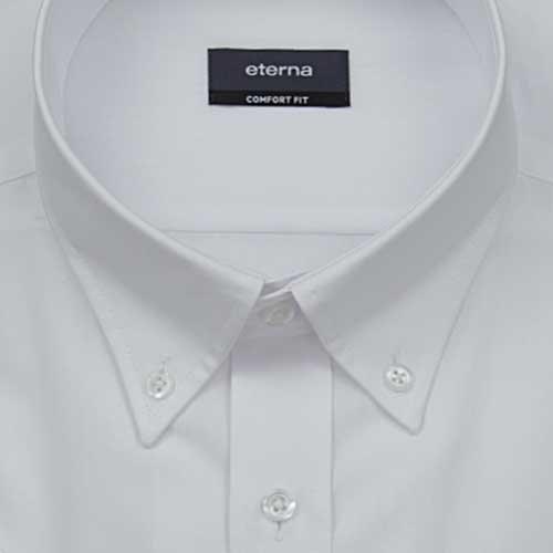 ETERNA Kurzarm Hemd COMFORT FIT Popeline unifarben Weiß
