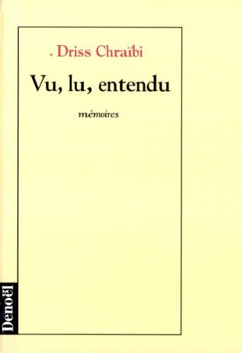 Vu Lu Entendu [Pdf/ePub] eBook