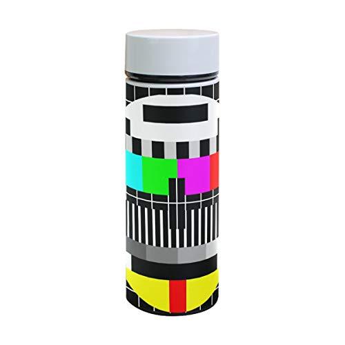 Ahomy Test TV Screen doppelwandig Vakuumisolierte Reise-Kaffeebecher, 18/8 Edelstahl Flasche, Sport Wasserflasche, 350 ml