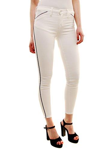 J Brand Damen Piped Dünn Jeans 849C028 Weiß