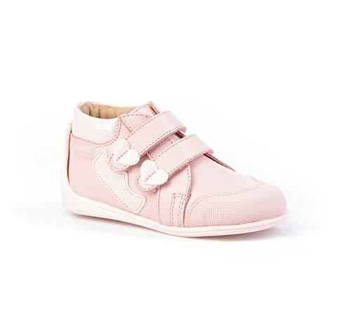 Botines para niña de Piel con Cierre de Velcro. Calzado Infantil Fabricado en España - Mi Pequeña Modelo 606I Color Rosa.