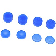 NF&E 8Pcs Cap Thumbstick Silicone Gel Thumb Grips Caps For Sony Playstation 4 Ps4 Blue
