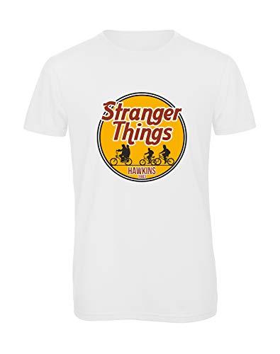 Bughyprint Tshirt t-Shirt Maglia Maglietta Stranger Things 3 DEMOGORGONE Sottosopra UNDICI, XXL