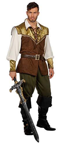 Karneval-Klamotten Robin Hood Kostüm Herren König der Diebe Herren-Kostüm Mittelalter Größe ()