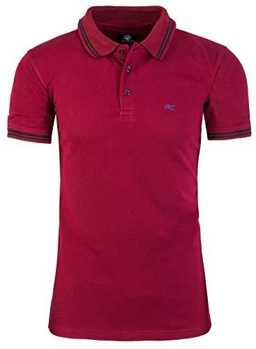 Rock Creek Herren Polo T-Shirts Basic Shirt Kurzarm Poloshirt Polohemd Slim Fit Sommer Shirts Männer T Shirt Top Polokragen H-177 Weinrot 3XL
