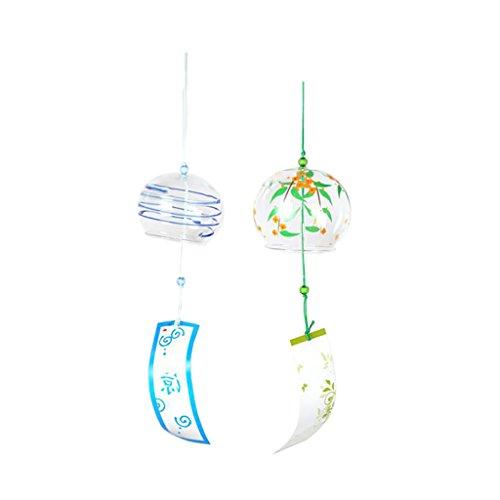 Sharplace 2 Stücke Japanischen Stil Glas Windspiel Wind Glocke Haus Fenster Hängende Dekor - #1