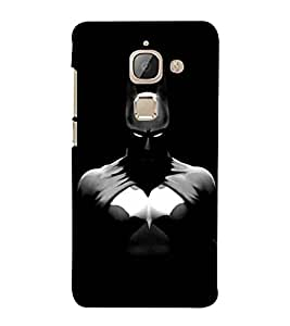For LeEco Le 2s :: LeEco Le 2 Pro :: LeTV 2 Pro :: Letv 2 :: LeEco Le 2 black cartoon, dangerous mask, white eye Designer Printed High Quality Smooth Matte Protective Mobile Case Back Pouch Cover by APEX