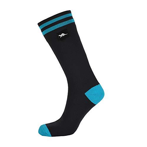 Wasserdichte Socken für MÄNNER & FRAUEN. Für Outdoor-Aktivitäten 100% wasserdicht, atmungsaktiv, winddicht, Golf, Laufen, Radfahren,Wandern,Spazierengehen. Mit MERINO WOLLE (Grau & Schwarz, Mittlerer)