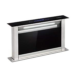 Klarstein Royal Flush Eco Extractor de humos de mesa – Replegable, 60 cm, Absorción de 576 m³/h, Absorción y ventilación…
