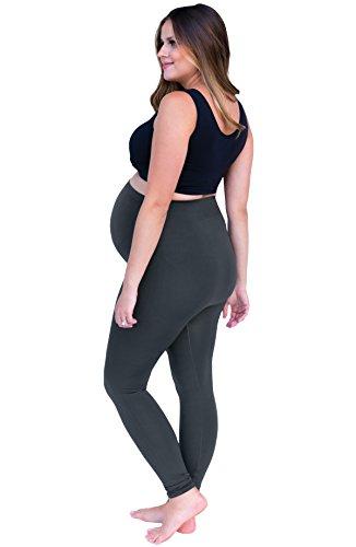 Belly Bandits Umstandsmode für Damen, Stretch-Leggings mit Wonderweave zur Unterstützung für Den Schwangerschaftsbauch Grau