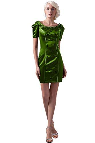 Missdressy - Robe - Trapèze - Femme - Vert olive