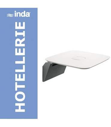 INDA AV036BWZ Hotellerie Sedile Ribaltabile per Doccia, Bianco
