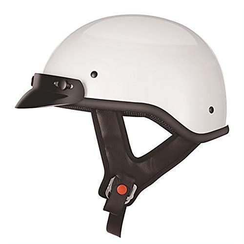 YAJAN-helmet Jet Vintage Helm Motorrad,DOT Zertifiziert mit Integriertem Sonnenvisier UVschutzbrille Schnellverschluss für Herren Damen Pedallokomotive Cruiser Roller Chopper Pilot 53-63cm