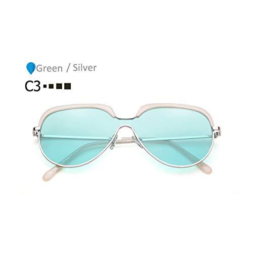 ZHENCHENYZ Vintage Shades für Frauen Pilot Sonnenbrille Männer Übergroße Futuristische Sonnenbrille Markendesigner Sonnenbrille