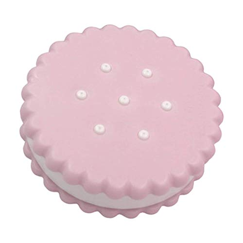 TEN-G Portable Cartoon Cookies Shape Contact Lens Storage Box Travel Contact Lens Pocket Case Box Container (pink)