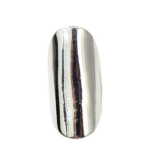 JUSTFOX - Edelstahl Ring Schlichtes Elegantes Design Gr. 60 = 19,1 mm Silber (Mondstein Ring Claddagh)