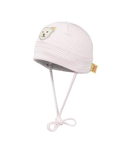 Steiff Steiff Unisex - Baby Mütze 0006610 Mütze Gr. 37 Cm Kopfumfang, Gestreift, Gr. 37 (Herstellergröße: 37), Rosa (Barely Pink 2560)