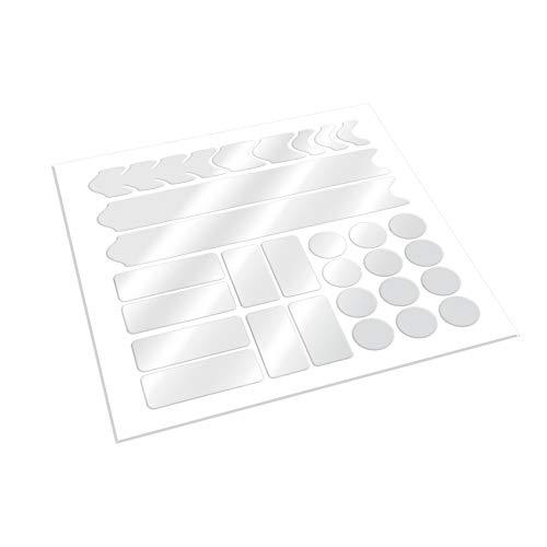 AlphaShield Fahrrad Rahmenschutz Kettenstreben Schutz Folie V2 Aufkleber Rahmen Schutz Carbon MTB BMX Lackschutz Folie (.Transparent Matt, Rahmenschutz komplett Set)