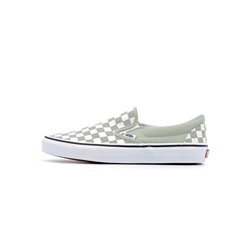 Vans Slip Man Classic, (Checkerboard) Desert Sage/True White, 36,5 (Checkerboard Slip)