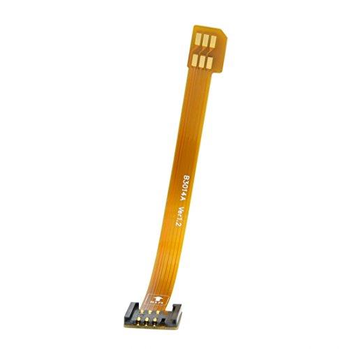 Debug-karte (chenyang 3G 4G Micro-SIM-Karte Kit Stecker zu Standard SIM uim weiblich Verlängerung Soft Flat FPC Kabel Verlängerung 10cm)