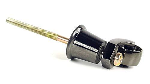 1x Nickel Chrom Castor Sockel & Rad mit A 210–220mm für Möbel Betten, Sofas Stühle Hocker ect–TSP BC