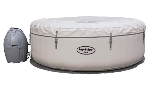 Bestway Lay-Z-Spa Paris AirJet, Whirlpool rund aufblasbar mit Massagefunktion, 196x196x66 cm