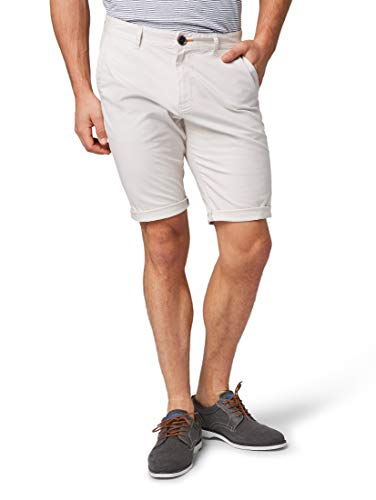 TOM TAILOR für Männer Hosen & Chino Josh Regular Slim Chino-Shorts Clouds Grey, 40 Slim Stretch-cord-hose