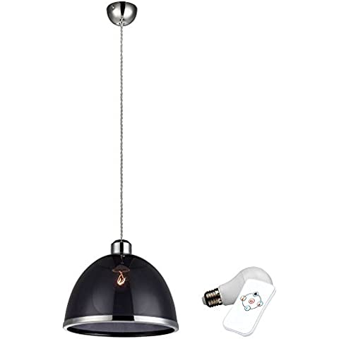 Colore della lampada a sospensione Design LED RGB cambiare ho una lampada dimmer lunghezza nero a soffitto - Accenti Fumo