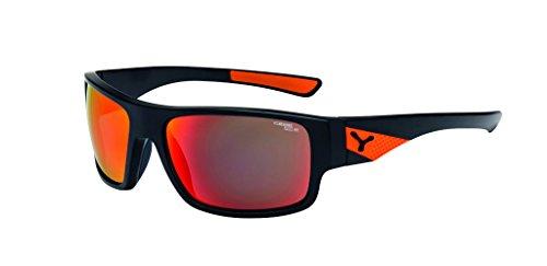 Cebe Matt black-orange Whisper Wrap Sunglasses Lens Category 3 Lens Mirrored