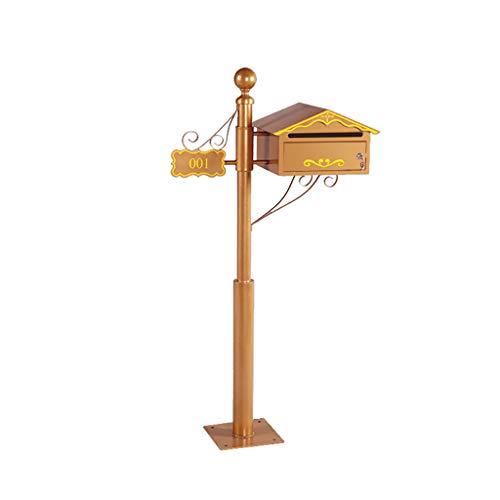 WYNZYYX Mailbox, Villa Brief Milch Box Europäischen Schmiedeeisen Klassische Briefkasten Outdoor Garten Briefkasten
