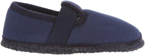 Haflinger Slipper Uno 628029 Unisex-Kinder Hausschuhe Blau (kapitän 79)