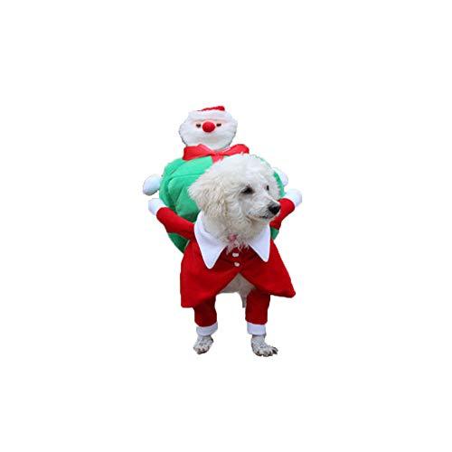 Oncpcare Hundekostüm aus Polyester, lustig, Weihnachtsmann, für heilige Weihnachten