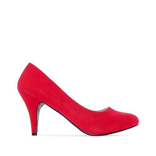 Elegante Pumps aus Nubukleder in Rot. Gr. 36 (Pumps Herren)