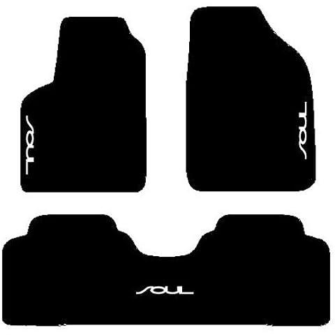 KIA SOUL Alfombra negro de coche, set completo de alfombras Alfombrillas a medida de hilo para bordar