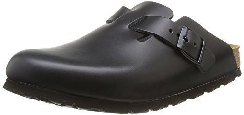 birkenstock-boston-60101-zuecos-de-piel-natural-unisex-color-negro-talla-45