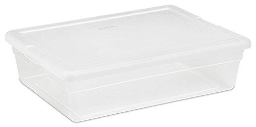 Sterilite 16558010Aufbewahrungsbox, weiß Deckel mit See-Thru Boden, 28-qts., muss in Mengen von 10 farblos (Sterilite Aufbewahrungsbox)