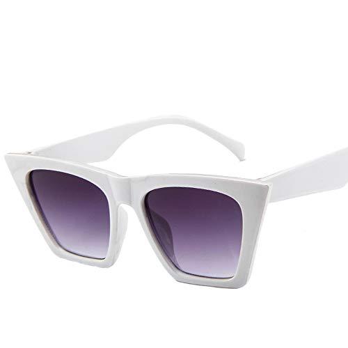 PFMY.DG Europäische und amerikanische Trend Damen Brille Design Frame polarisierte koreanische Brille Sonnenbrille Mode große Box große Sonnenbrille,White