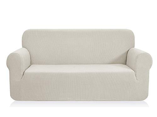 Chun yi 1-pezzo elasticizzato jacquard copridivano coprisofà sofa cover jacquard per casa decorativa (divanetto, avorio)