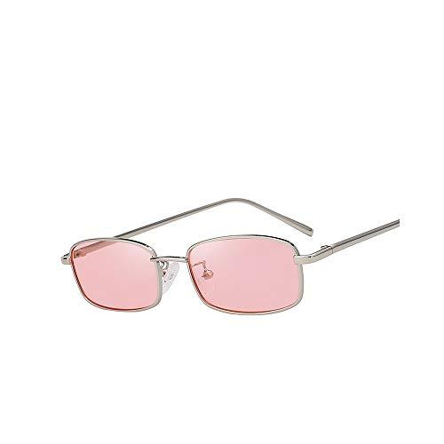 WJMLHLKK Sonnenbrille Frauen Männer Rechteck Brille Markendesigner Kleine Retro Shades Pink Sunnies Sonnenbrille Frauen